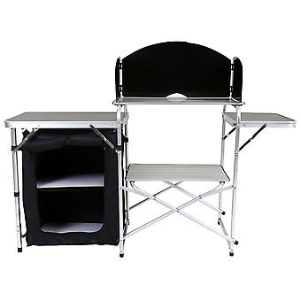 Charles Bentley Folding Kitchen Camping Storage Unité Portable Outdoor Cooking