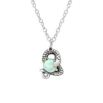 Snake - 925 Sterling Silver Jewelled Necklaces - W36821x