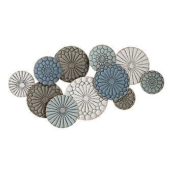 Boho-geïnspireerde metalen platen Muur Decor