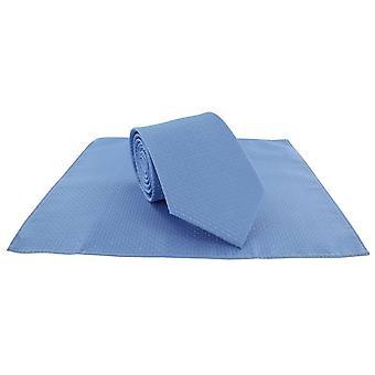 Michelsons af London Semi almindelig binde og lomme firkantede sæt - Ice Blue