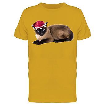 Party Hat Cat Tee Men's -Image by Shutterstock