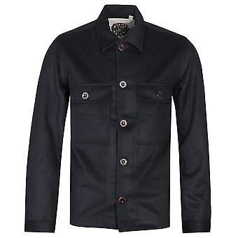 Mooie groene wol zwart Overshirt