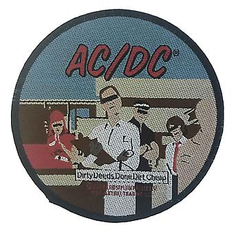 AC/DC Patch Dirty Deeds Done Dirt Cheap Band Logo new Official Circular Sew on