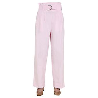 Ganni F4774480 Femmes-apos;s Pantalon en coton rose