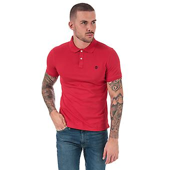 Men's Timberland Millers River Jacquard Polo Shirt in rot