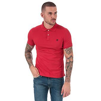 Män & apos; s Timberland Millers River Jacquard Polo Shirt i rött