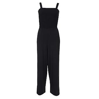 Women's Brave Soul Ruched Jumpsuit in Black