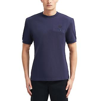 Fred Perry Men's Pocket Detail Pique T-Shirt Regular Fit