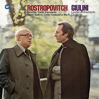 Dvorak / Rostropovich / Giulini / Lpo - Cello Concerto & Saint-Saens / Cello Concerto No 1 [Vinyl] USA import