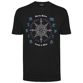 Marcelo Burlon Zwart Rosone T-shirt