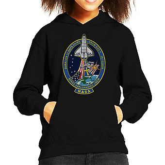 NASA STS 116 Discovery Mission Badge Distressed Kid's Hooded Sweatshirt