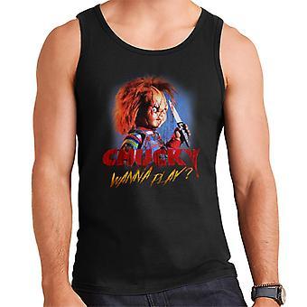 Chucky wilt spelen Crazed gezicht mannen ' s vest