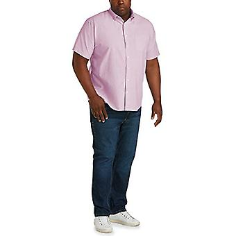 Essentials Men's big & Tall Short-Sleeve Pocket Oxford Shirt fit von DXL, Pink, 3XL
