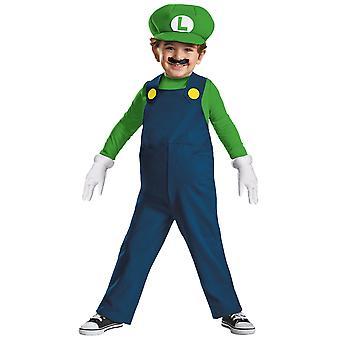 Luigi Deluxe Nintendo Super Mario Bros Video Game Plumber Toddler Boys Costume