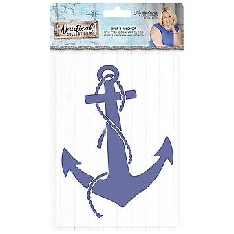 Crafter's Companion Nautical 2D Embossing Folder Ship's Anchor