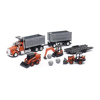 Kubota rakennuskoneiden, kippiauto ja perävaunun Leikkisetti