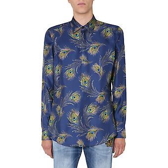 Dolce E Gabbana G5ge6tis1fyhb2gy Männer's blaue Seide Shirt