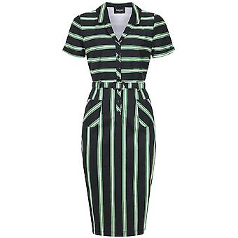 Collectif Clothing Caterina Witch Stripes Pencil Dress