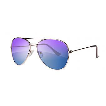 Sunglasses Unisex Cat.3 gold/blue (amu19209e)
