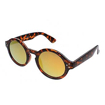 Sunglasses Unisex brown with yellow mirror lens (16-169)