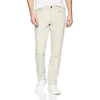 Brand - Goodthreads Men's Straight-Fit Washed Comfort Stretch Chino Pant, Stone, 31W x 32L