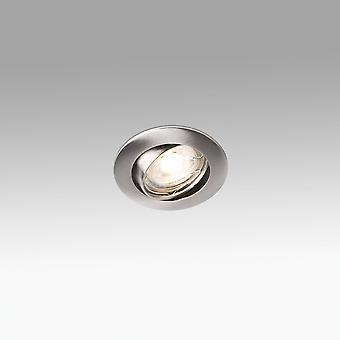 1 Light Round Tiltable Recessed Spotlight Matt Nickel