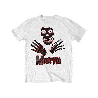 Misfits Kids T Shirt Hands Band Logo new Official White (Ages 7-14 yrs)