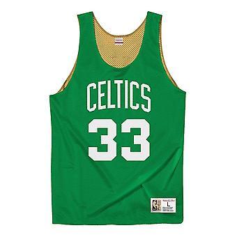Mitchell & Ness Nba Reversible Mesh Tank Celtics 88 Larry Bird MSRVMI19003BCEGNGD88LBI basketball all year men t-shirt