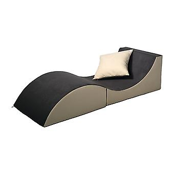 Relax sofa foldable grey & beige