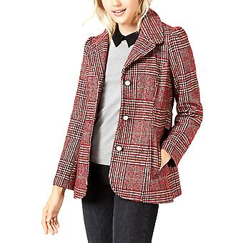 Maison Jules | Plaid-Print Pea Coat