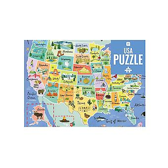 500 Piece Jigsaw Puzzle | USA Map American Game Adults Kids Party Gift