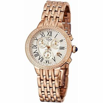 GV2-tekijä Gevril Women's 9132 ASTOR Chronograph Diamonds Rose-Gold IP Steel Watch