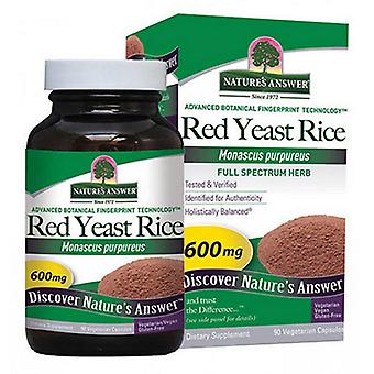 Nature's Answer Red Yeast Rice, 600 mg, 90 Caps