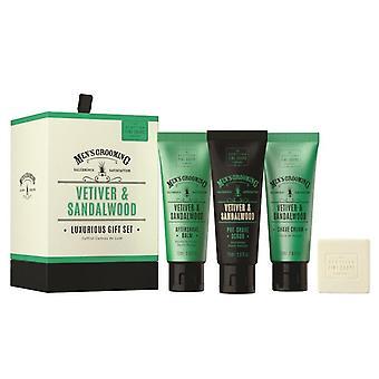 Giftset Scottish Fine Soaps Vetiver & Sandalwood Luxurious Gift Set