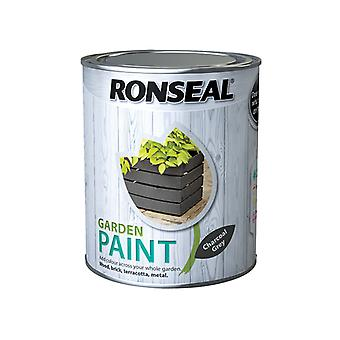 Ronseal Garden Paint Charcoal Grey 750ml RSLGPCG750