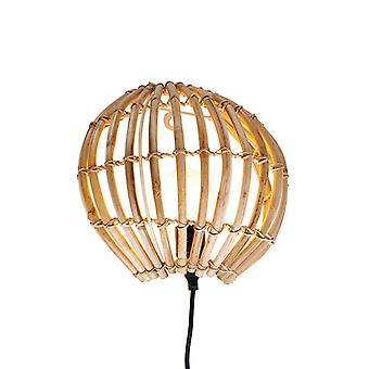 QAZQA Rural bamboo wall lamp - Canna