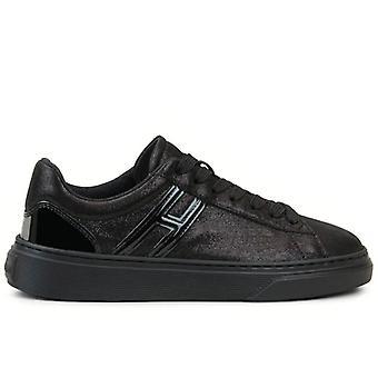 Sneaker Da Donna Hogan H365 Nera In Pelle Laminata