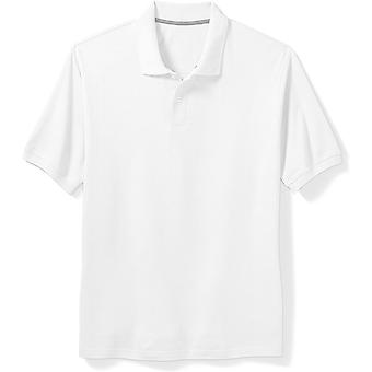 Essentials Men's Big & Tall Cotton Pique Polo Shirt fit by DXL, White,...