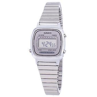 Casio digitaalinen ruostumattomasta teräksestä valmistettu hälytysajastin La670wa-7df La670wa-7 Women's Watch