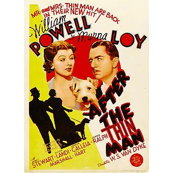 After The Thin Man From Left Myrna Loy Asta William Powell On Midget Window Card 1936 Movie Poster Masterprint