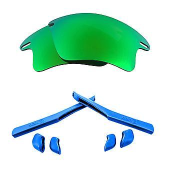 Polarized Replacement Lenses Kit for Oakley Fast Jacket XL Green Mirror Blue Anti-Scratch Anti-Glare UV400 by SeekOptics