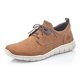 Rieker B8753-26 Timo Herren Smart Casual Lace-up Sneakers In braun