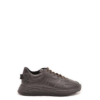 Hide&jack Ezbc463001 Men's Black Leather Sneakers