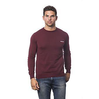 Roberto Cavalli Sport Bordeaux Round Neck Long Sleeve Sweater