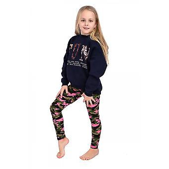 Girls Eco LeatherStriped Pants Thick Trousers With Panel Fs99k11