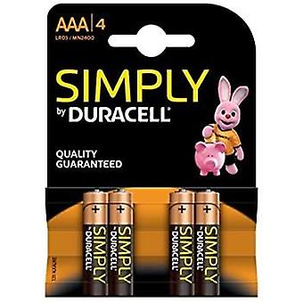Simply Duracell Plus B4 Battery (2400) AAA 4's x10