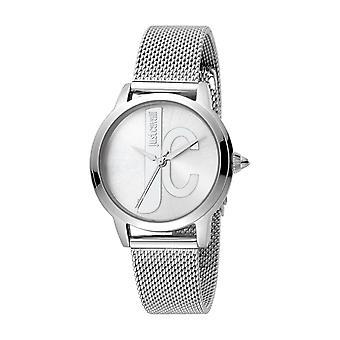 Just Cavalli Women's JC set Silver Dial Stainless Steel Mesh Watch