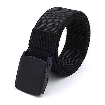 Men&s Tactical Belt, Outdoor Sports Hook Metal Buckle, Military Nylon Training