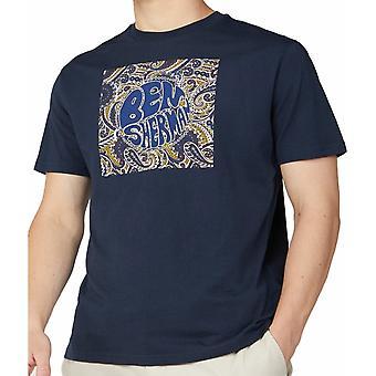 BEN SHERMAN Ben Sherman Paisley Logo Tee Shirt