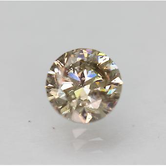 Cert 1.01 カラット ファンシー ブラウン SI1 ラウンド ブリリアント エンハンスナチュラル ダイヤモンド 6.17mm